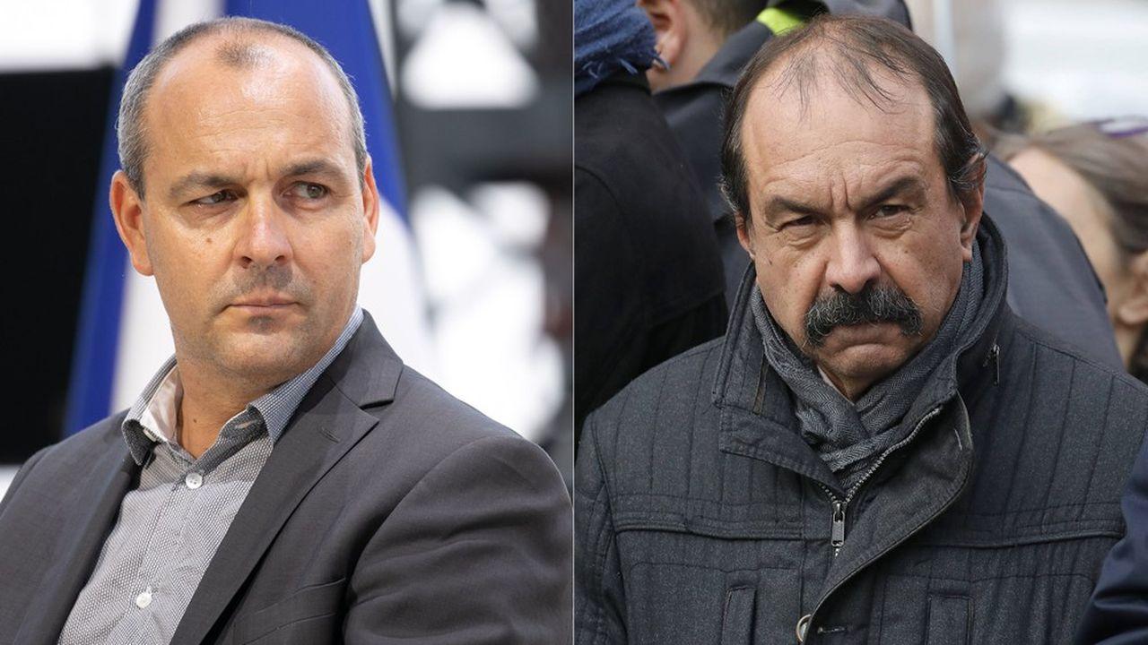 Laurent Berger (CFDT) et Philippe Martinez (CGT) manifesteront séparément ce mardi.