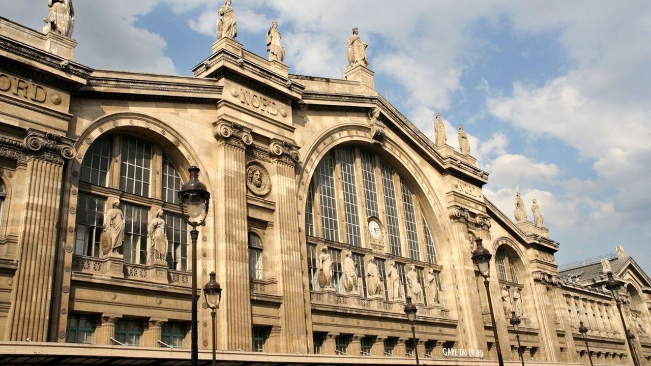 L'entrée principale de la gare du Nord, à Paris.