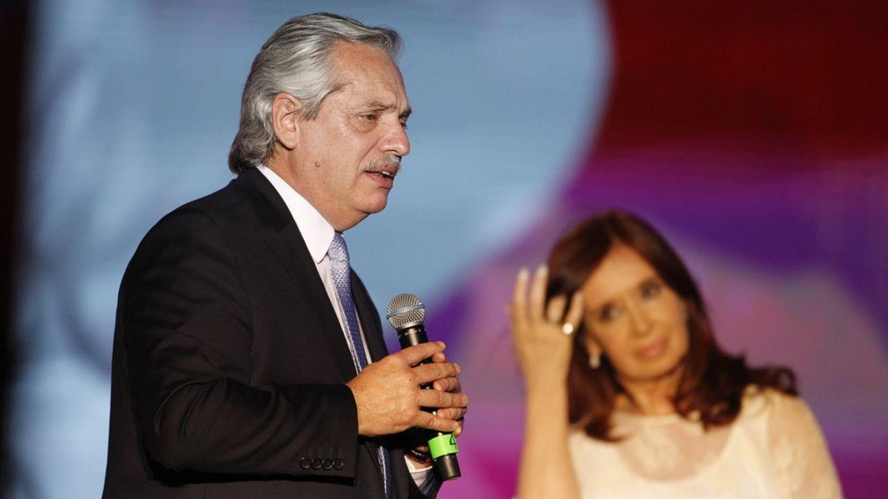 Le nouveau président argentin Alberto Fernandezaux côtés de la vice-présidente Cristina Kirchner.