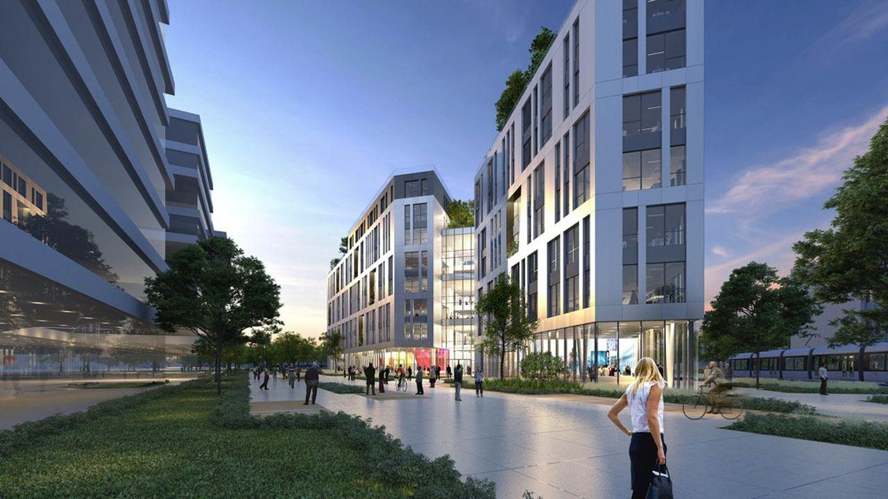 Le nouvel immeuble Le Gaspard accueillera sur huit niveaux 20.750 mètres carrés de bureaux et 300 mètres carrés de commerces.