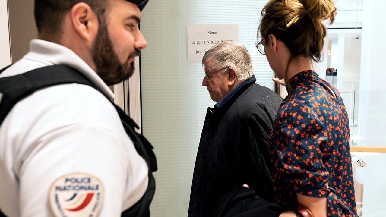 L'ex-dirigeant de France Telecom, Didier Lombard, arrivant au tribunal en mai dernier.