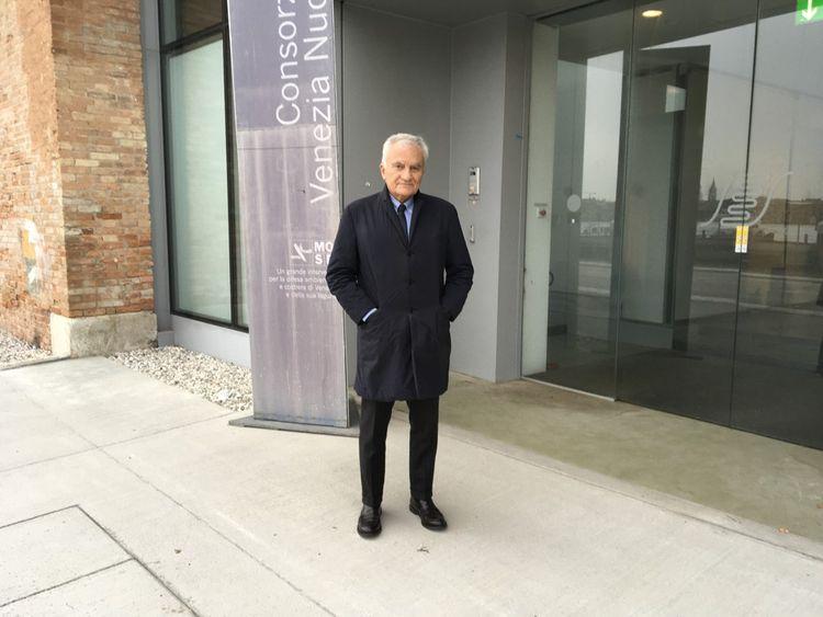 Alberto Scotti, le concepteur du Mose, censé protéger Venise des marées hautes.