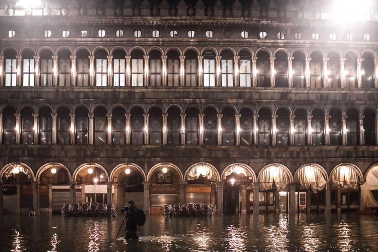 Venise à nouveau sous les eaux en novembre 2019.