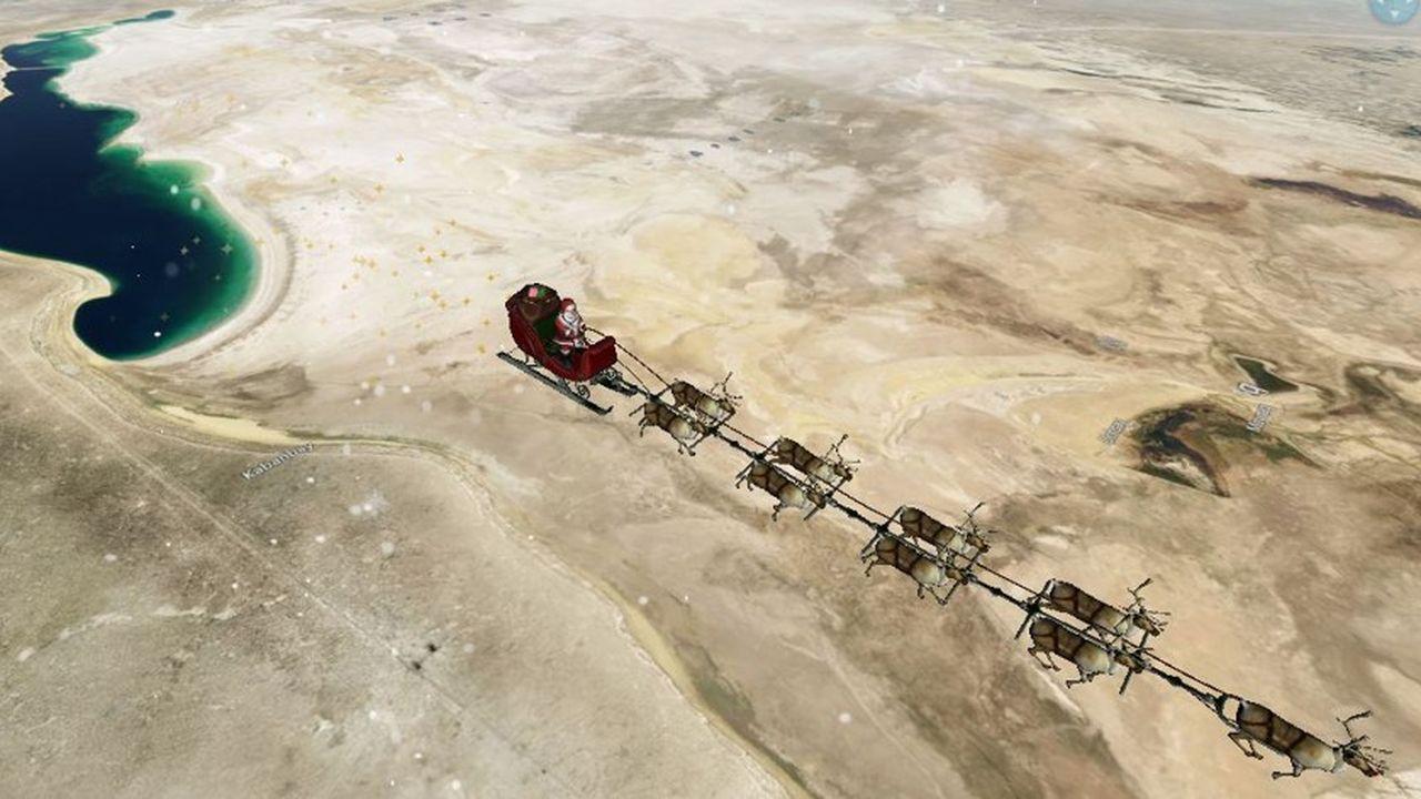 Aux alentours de 18h30, le père Noël distribuait ses cadeaux en Russie.