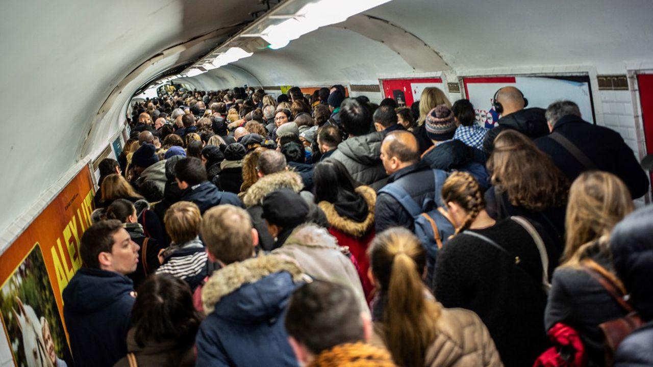 Station Châtelet à Paris, 16 décembre 2019