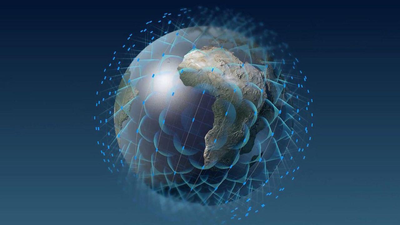 Les constellations, comme celle de Oneweb, se proposent de ceinturer la planète en orbite basse, pour servir internet au monde entier avec une faible latence.