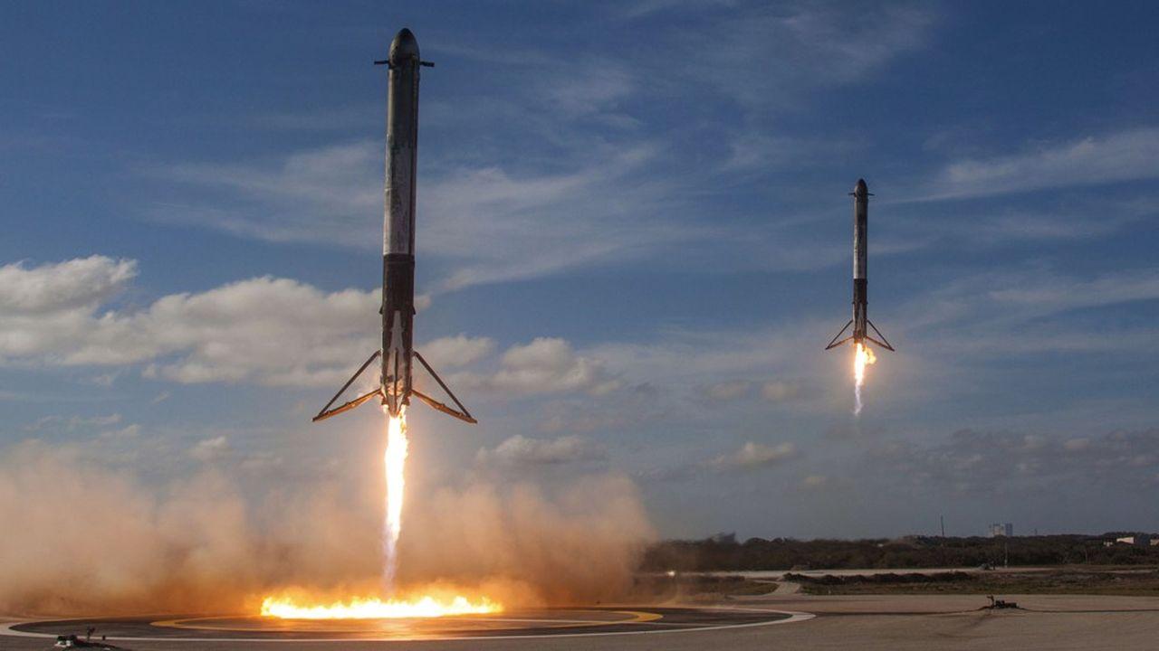 SpaceX parie sur des lanceurs réutilisables au moins dix fois.