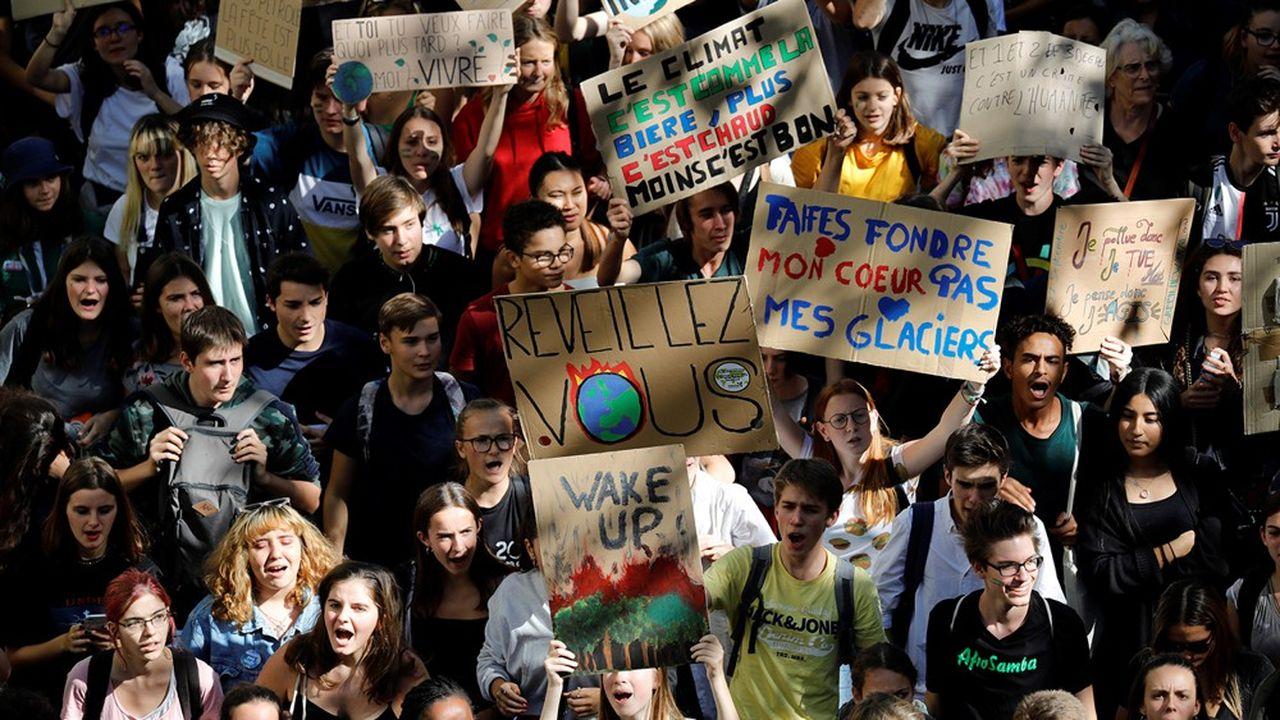 Marche pour le climat dans les rues de Paris, le 20septembre 2019