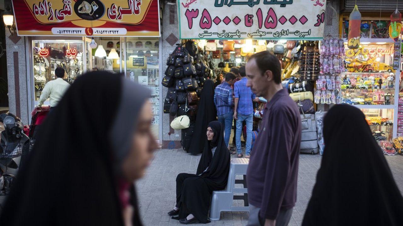 L'économie iranienne est en récession. Le produit intérieur brut devrait avoir reculé de 9,5% en 2019 selon les dernières prévisions du FMI.