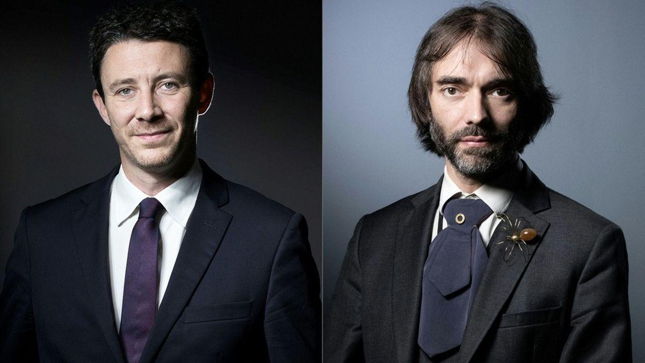 Hugues Renson, député de Paris et vice-président de l'Assemblée nationale, a décidé de soutenir le candidat dissident de LREM pour la mairie de Paris, Cédric Villani (à droite sur la photo) contre le candidat officiel Benjamin Griveaux (à gauche).