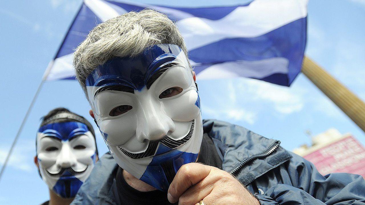 Militants pour l'indépendance de l'Ecosse lors d'une manifestation à Glasgow en 2016.