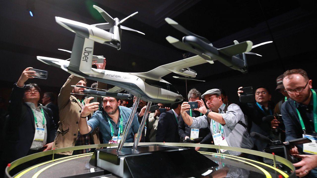 Une maquette du S-A1, un véhicule volant qui sera produit par Hyundai, a été dévoilée au Consumer Electronics Show 2020.