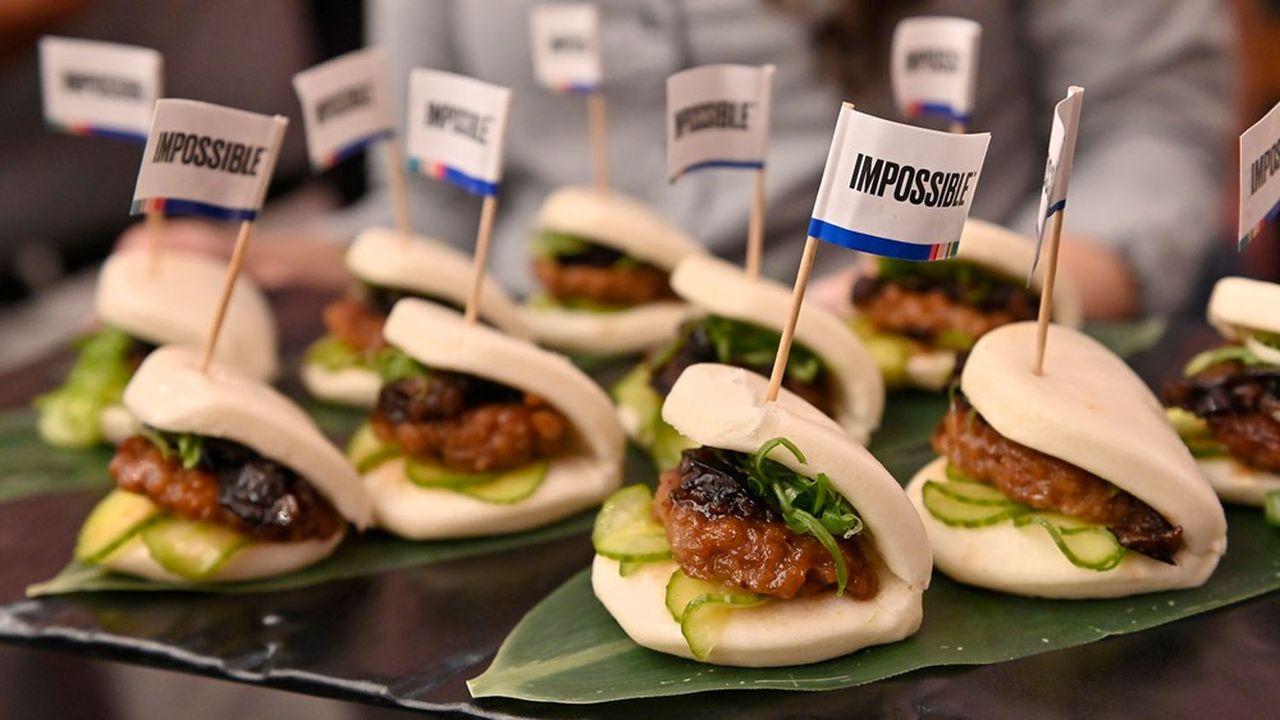 Présenté au Consumer Electronic Show de Las Vegas, l'«Impossible Pork» a été développé à partir de substituts à la viande porcine.