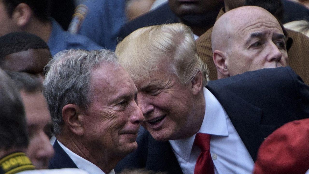 Michael Bloomberg et Donald Trump auraient chacun dépensé 10millions de dollars pour la diffusion d'une publicité pendant le Super Bowl.