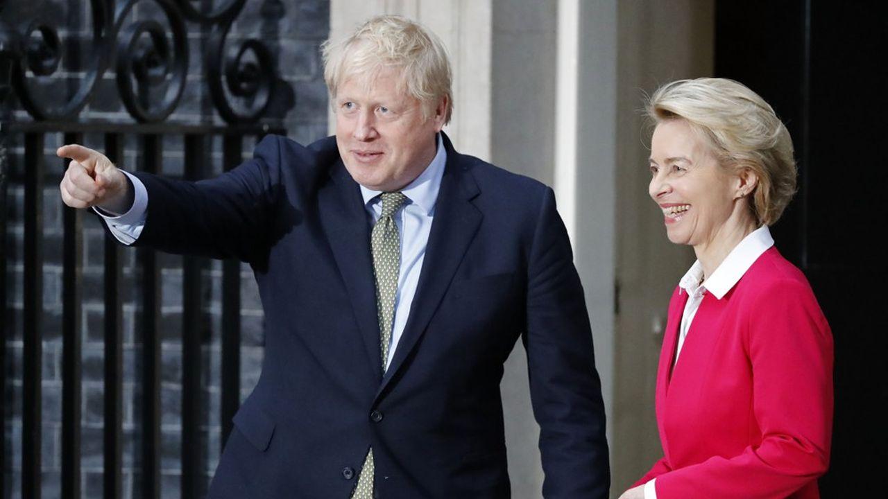 Ursula von der Leyen a été reçue mercredi par Boris Johnson au 10 Downing Street.