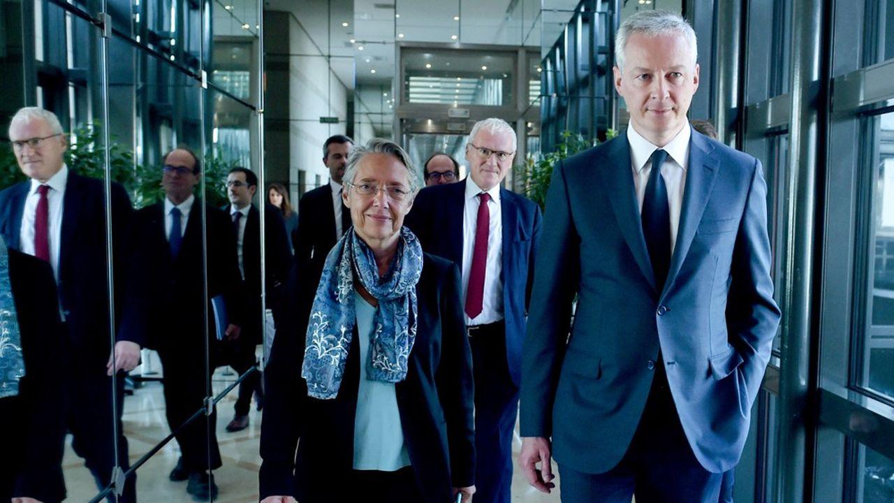 La ministre de la Transition écologique, Elisabeth Borne, et le ministre de l'Economie, Bruno Le Maire, gèrent cet épineux dossier de l'énergie et de l'environnement.