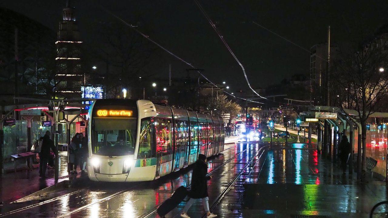 La circulation des tramways et des bus sera beaucoup plus mauvaise que mercredi, avertit la RATP