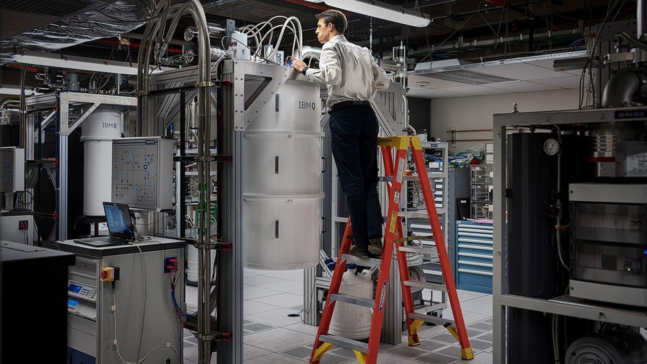 IBM dispose de 14ordinateurs quantiques dans le monde, comme ici à New York, mais aussi à Zurich.