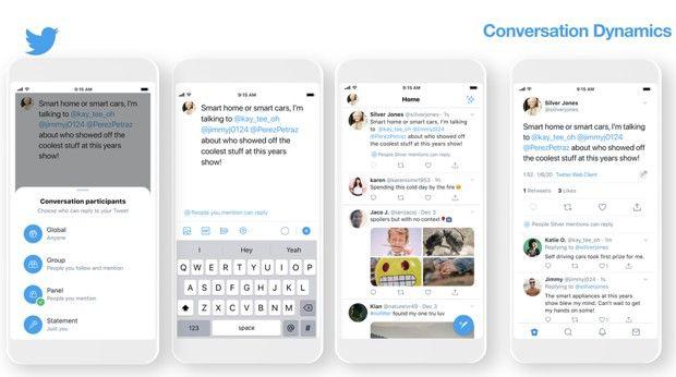 Visualisation de la nouvelle fonctionnalité présentée par Twitter