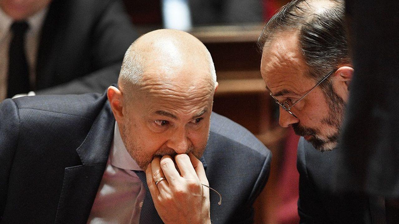 Laurent Pietraszewski, secrétaire d'Etat aux Retraites, et Edouard Philippe, Premier ministre, étudient un «cocktail de mesures» pour redresser les comptes du système de retraite.