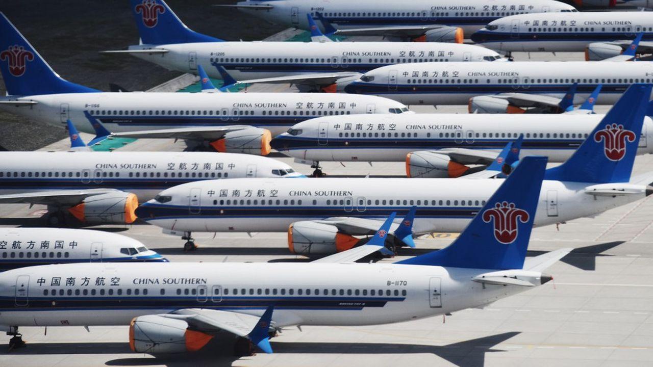 Les 737 MAX s'accumulent au sol aux quatre coins de la planète. Même en Chine. Leur production doit s'arrêter ce mois-ci.