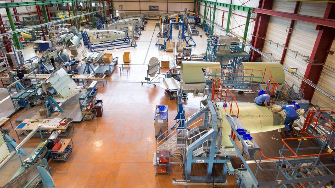 Potez réalise pour Dassault l'assemblage des fuselages des Falcon900 et 2000 sur le site de l'avionneur à Biarritz.