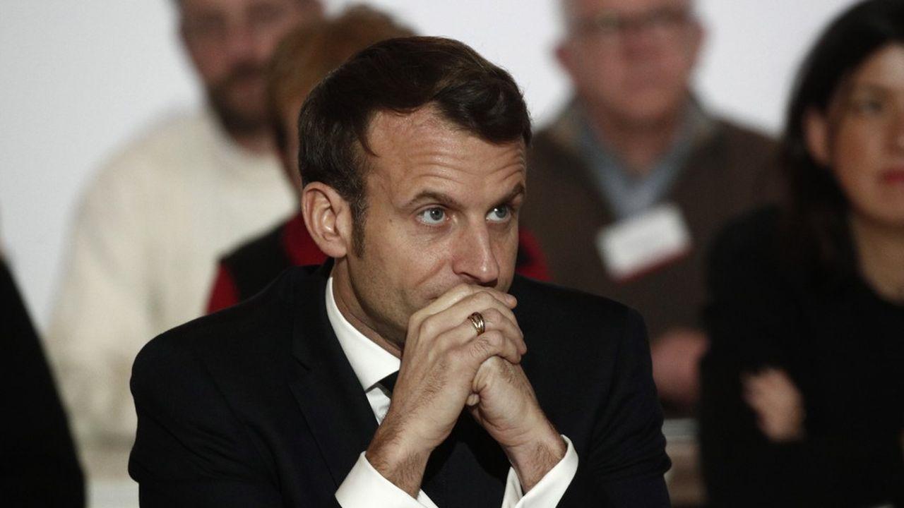 Emmanuel Macron, ce vendredi soir lors de sa participation à la Convention citoyenne sur le climat.