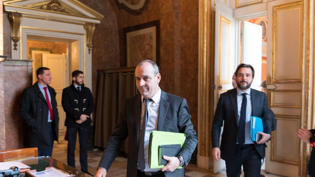 Laurent Berger, le secrétaire général de la CFDT, à l'issue de sa rencontre avec Edouard Philippe vendredi à Matignon.