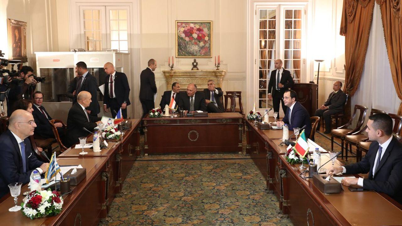 Réunion internationale auCaire sur la crise libyenne le 8janvier 2020
