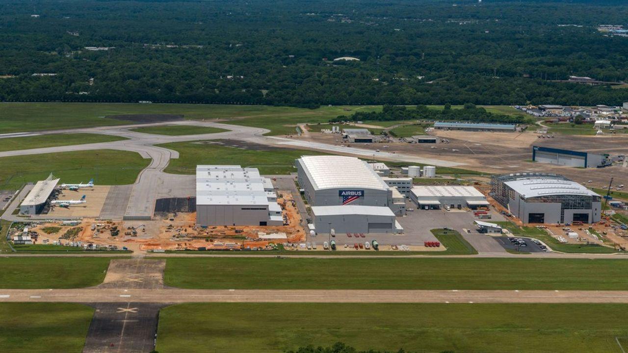 Inaugurée en 2015, la chaîne d'assemblage d'Airbus A320 de Mobile, dans l'Alabama, va passer de 5 à 7appareils par mois d'ici à 2021, auxquels s'ajouteront une quarantaine d'A220 par an.