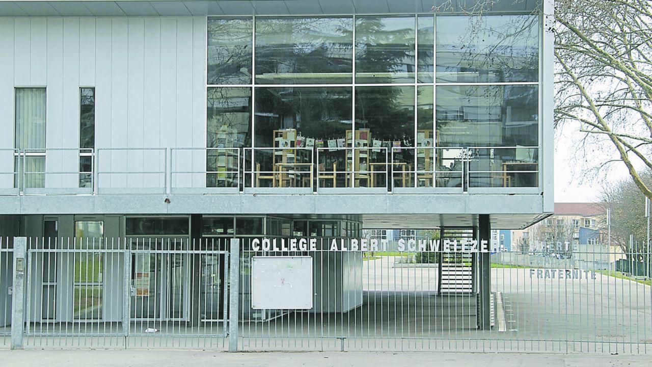 Dans le Val-de-Marne, 35 des 105 collèges publics sont classés en REP et REP +comme lecollège Albert-Schweitzer de Créteil.