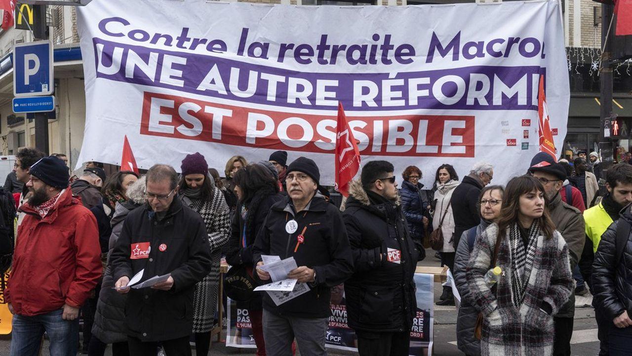 Manifestation contre la reforme des retraites à Paris, samedi 11janvier 2020.