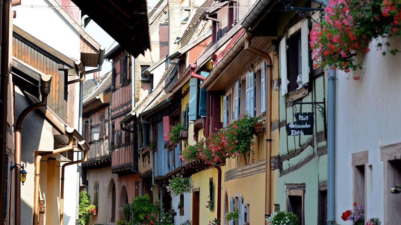 Une photo du village d'Eguishem, en Alsace.