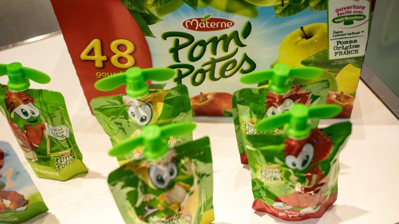 Moins de plastique par emballage et entièrement recyclable, la gourde Pom'potes courtise lesconsommateurs écoresponsables.