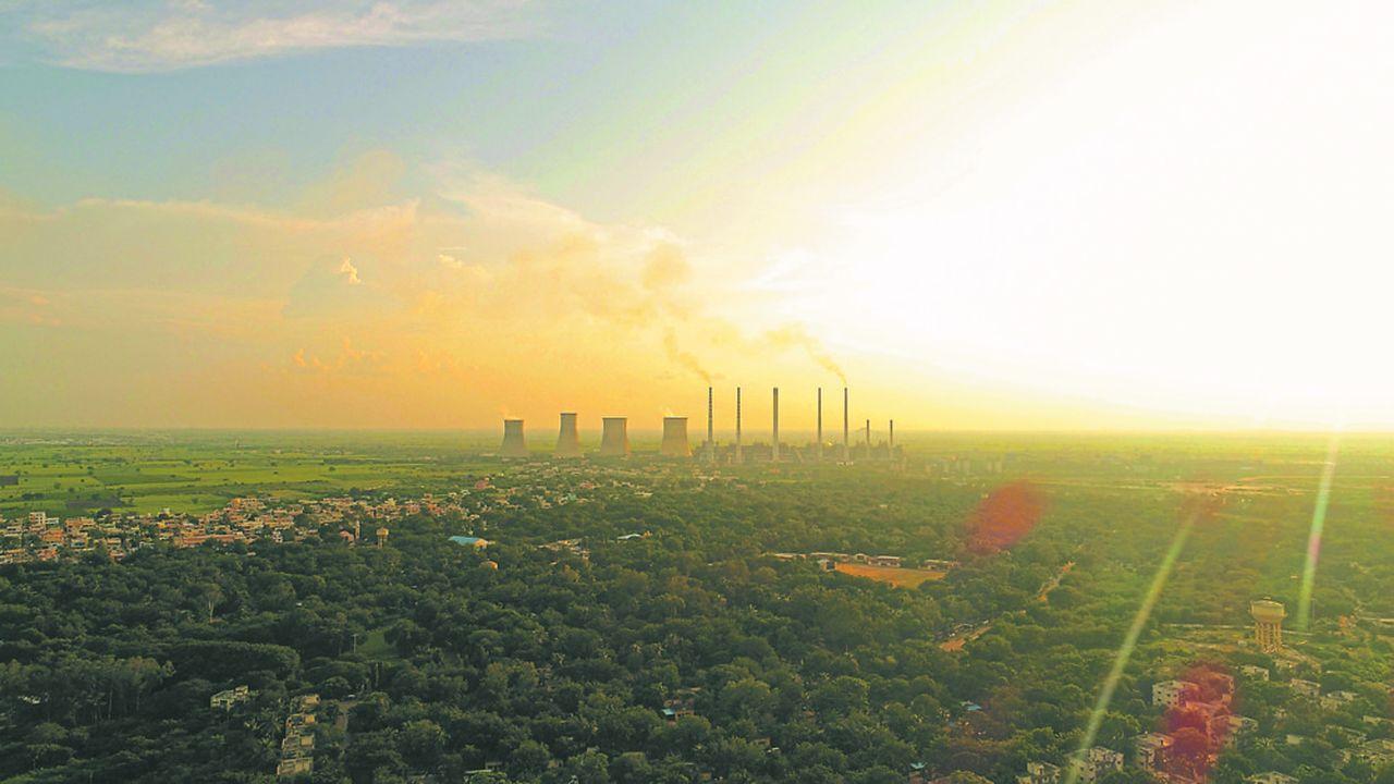 Une centrale à charbon, près de Raichur, dans l'est du Karnataka, en Inde.