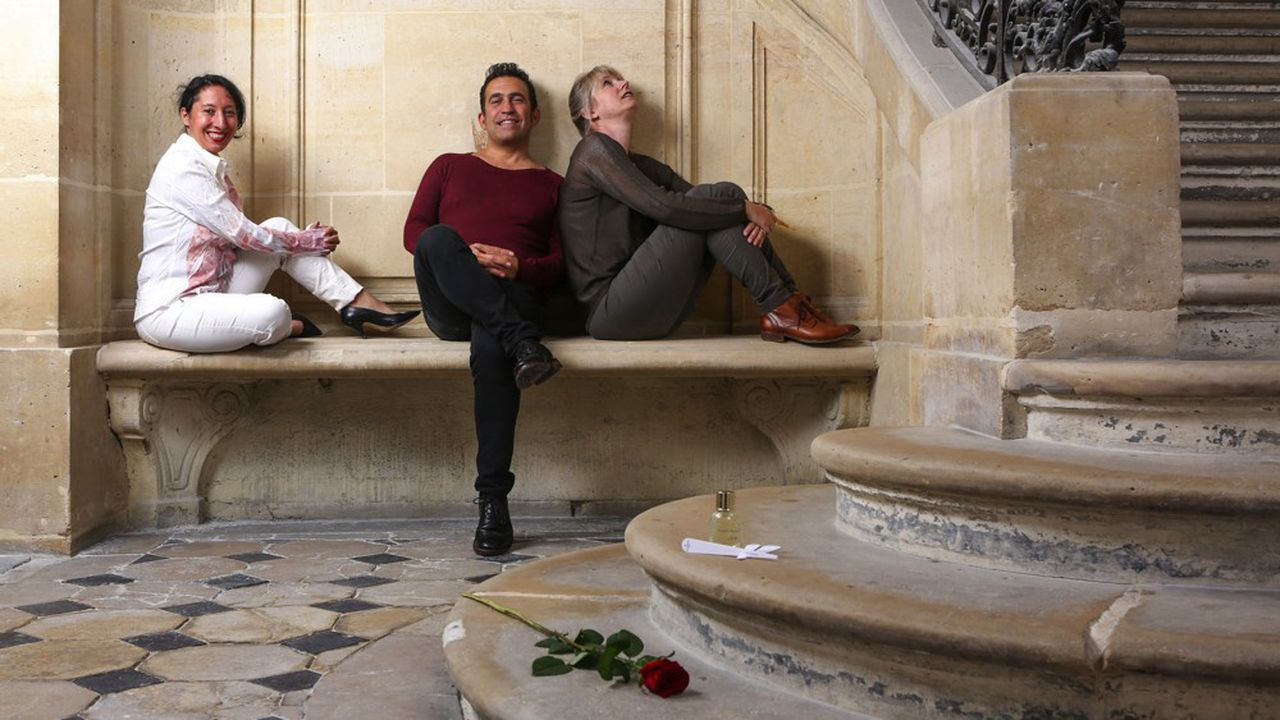 Szajna Zinenberg, Jean-Charles Sommerard et Helen Cser Lalitte forment les piliers de la maison de parfums Sevessence.