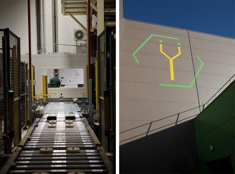 Vue sur la salle des machines de l'usine Ynsect à Damparis (Jura).