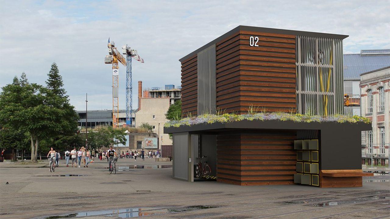 Le premier prototype de la Ruche à vélos sera installé près de la gare d'Angers, àl'automne 2020.