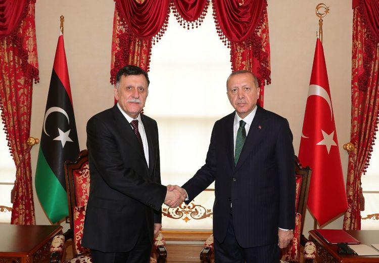 Le Premier ministre libyen Fayez al-Sarraj a reçu le soutien du président turc Recep Tayyip Erdogan.