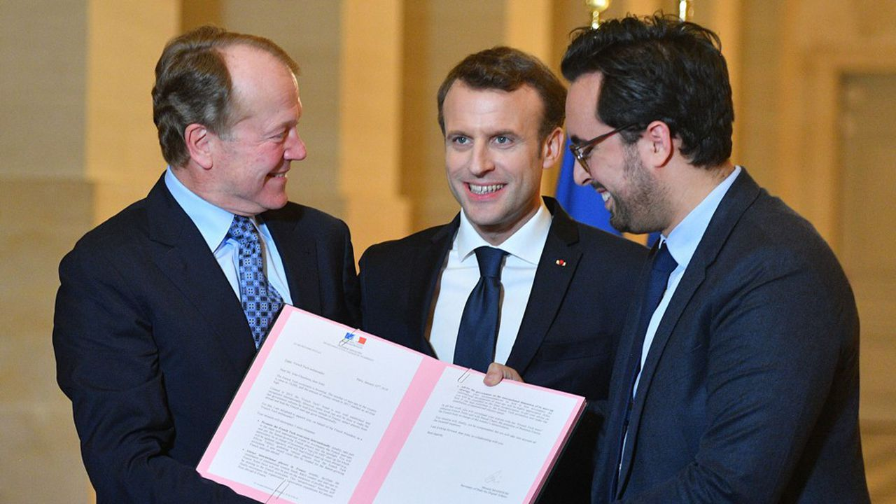 C'est la troisième fois que le président Emmanuel Macron reçoit 200 PDG, dont 165 étrangers à Versailles. Un tiers d'entre eux sont américains, un tiers européens et un tiers proviennent du reste du monde.