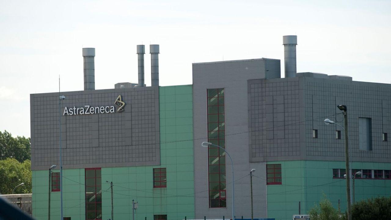 Usine AstraZeneca à Dunkerque, site de référence mondiale du groupe pharmaceutique pour les aérosols.