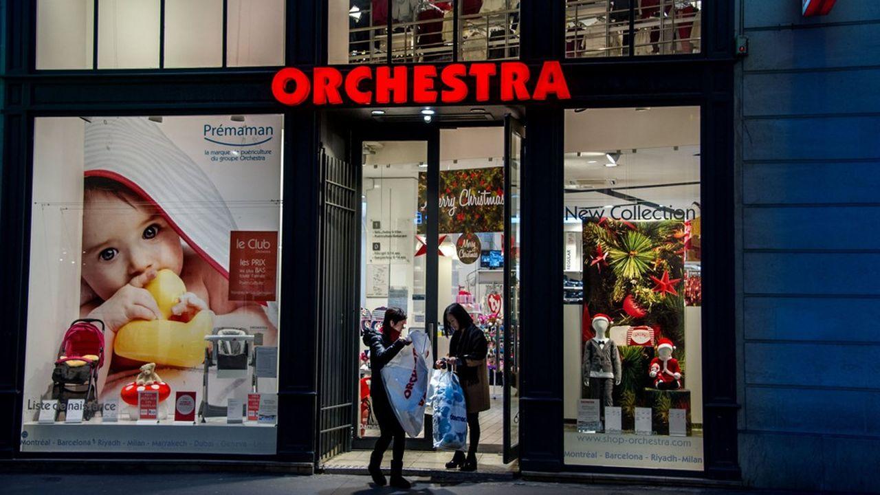 Selon les données de la société Altares, la chaîne de magasins de vêtements Orchestra-Prémaman qui réalise des ventes annuelles de 486millions d'euros, est la plus grosse entreprise ayant fait l'objet d'une procédure collective l'an passé.