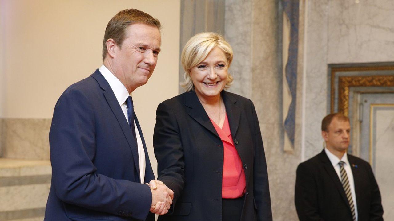 La présidente du Rassemblement national estime que «la primaire ce n'est pas dans l'ADN de Nicolas Dupont-Aignan puisque ce n'est pas du tout la vision gaullienne des institutions».