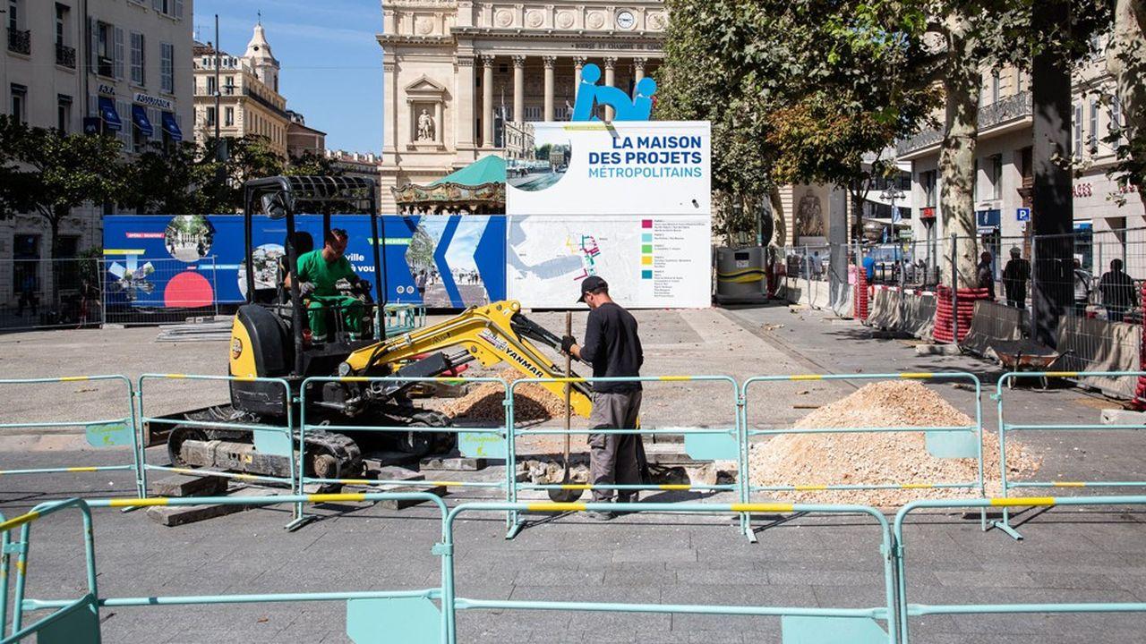 Depuis quelques semaines, la Canebière, à Marseille, est interdite aux voitures.