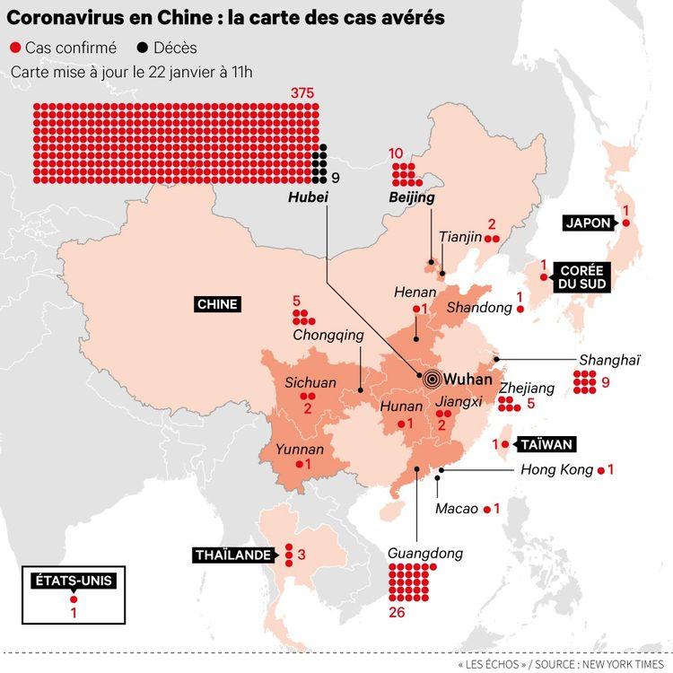 La Chine met en quarantaine Wuhan, au cœur de l'épidémie