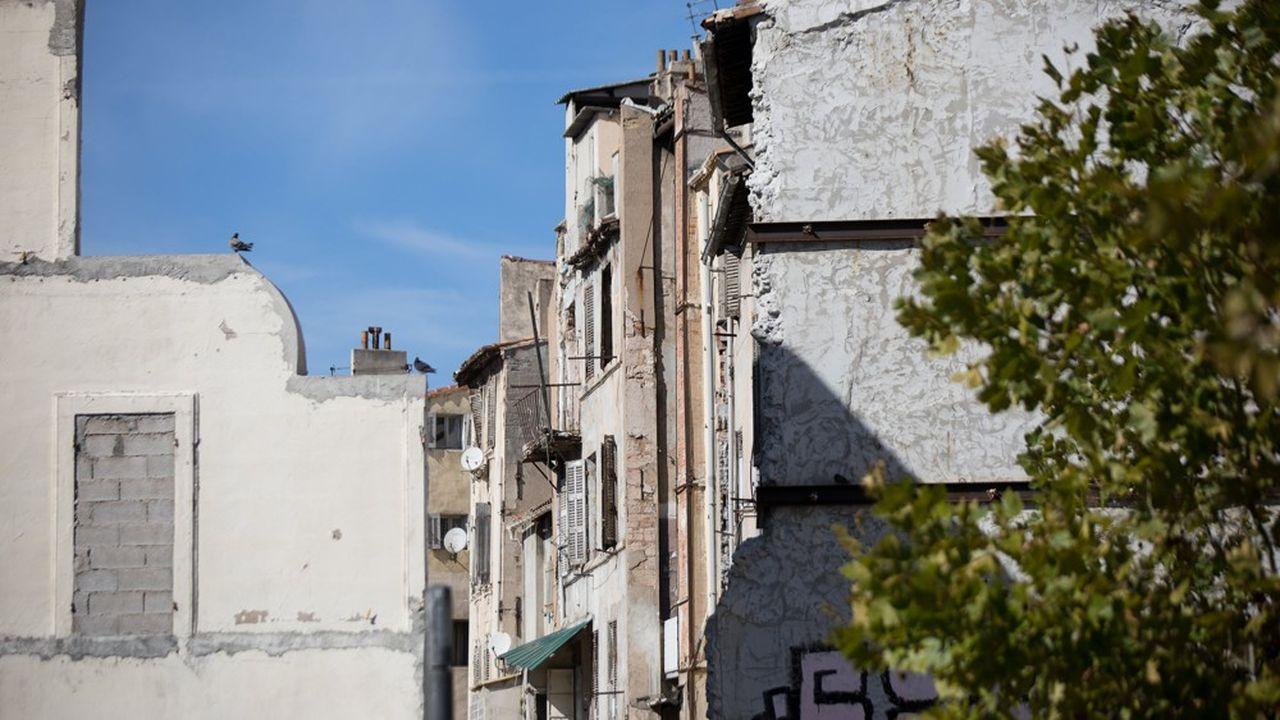 Des immeubles insalubres à Marseille.