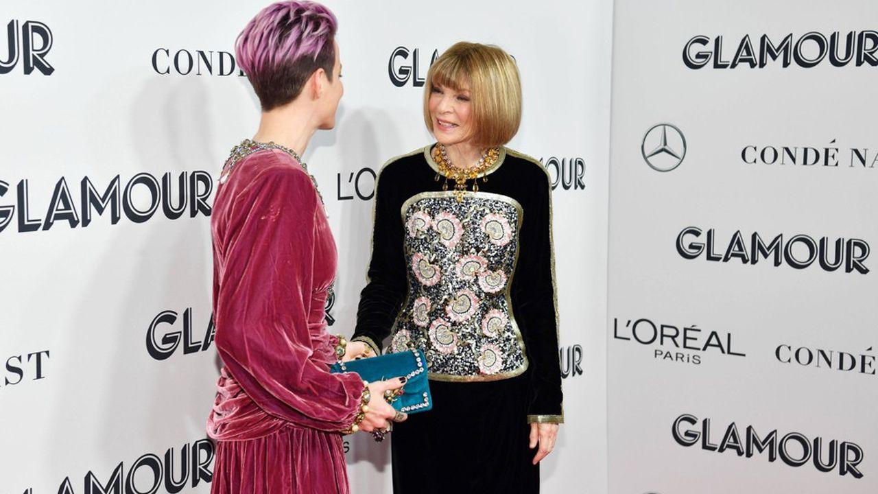 Le groupe Condé Nast (ici représenté par Anna Wintour, directrice artistique) avait déjà fermé les éditions papier de Glamour au Royaume-Uni, aux Etats-Unis et en Italie.