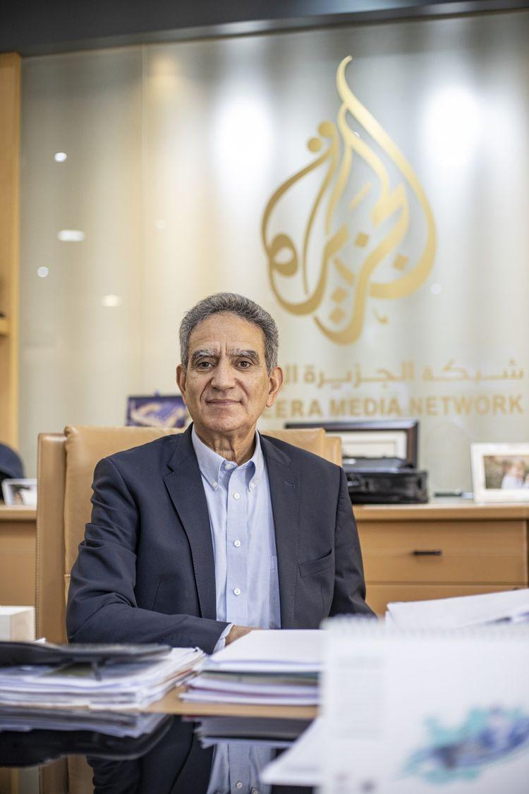 Mostefa Souag, directeur général d'Al Jazeera Media Network, dans son bureau à Doha.