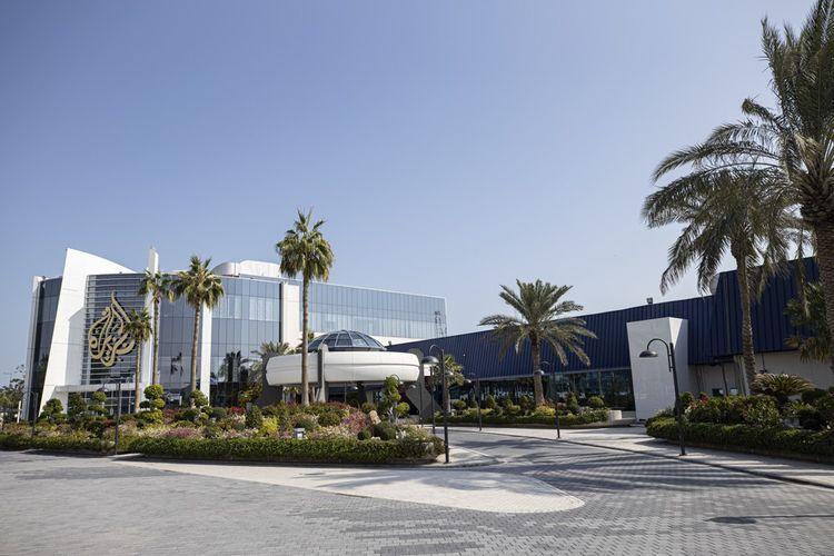 Vue extérieure des locaux dans la capitale qatarie.