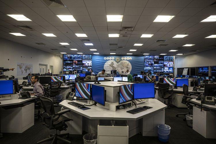 La newsroom historique baptisée la «boîte d'allumettes» par l'ancien président égyptien Hosni Moubarak, aujourd'hui bureau de l'équipe web.